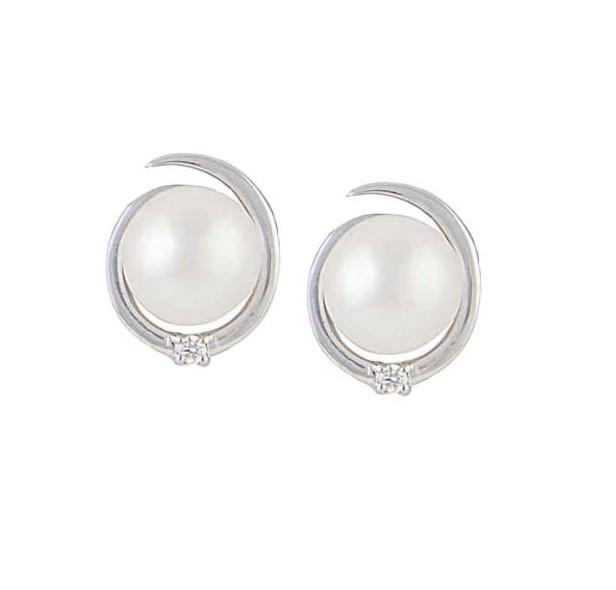 Silver Stud Freshwater Pearl Earrings