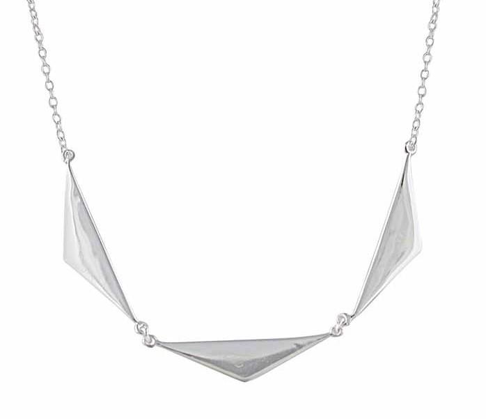 Three Triangle Silver Necklace