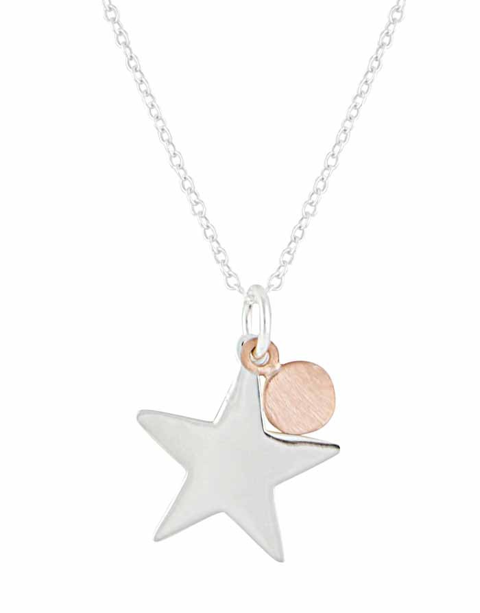 Star and rose gold disc necklace the opal star and rose gold disc necklace aloadofball Images