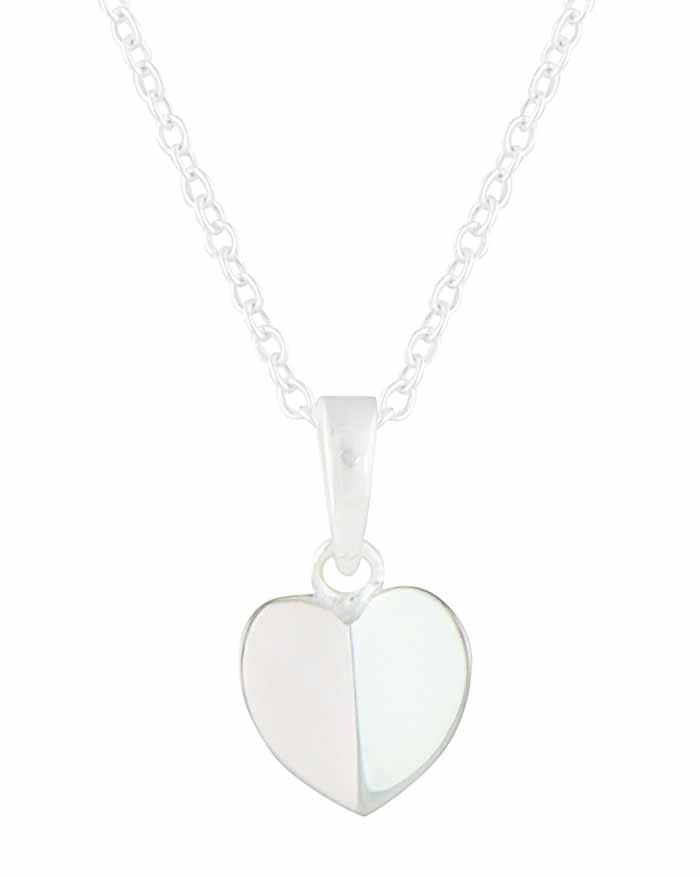 Folding Heart Silver Necklace