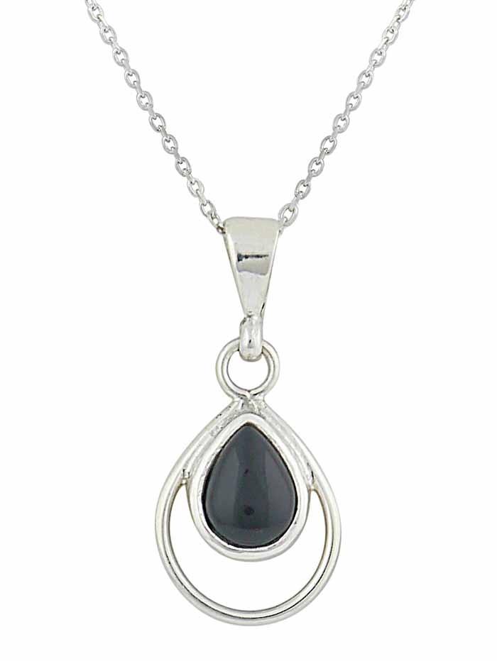 Black Onyx Teardrop Pendant