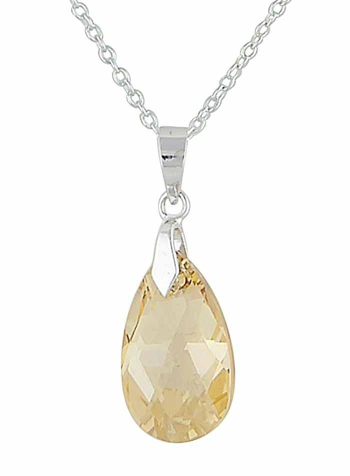 Golden Shadow Swarovski Crystal Pendant | The Opal Jewellery