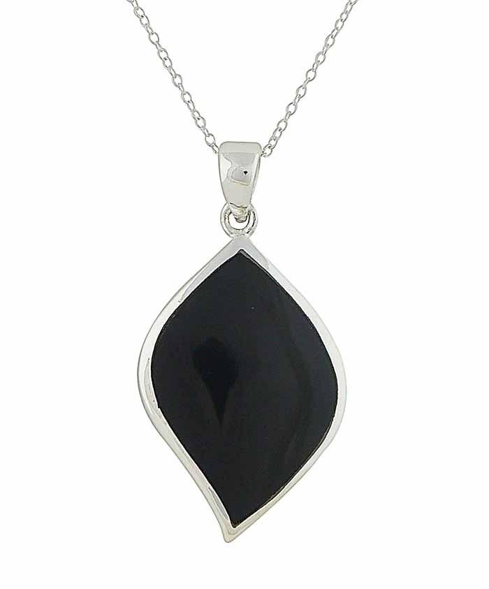 Black Onyx Vision Silver Pendant