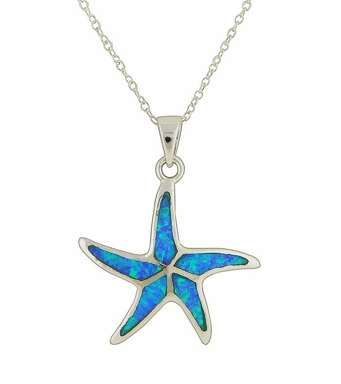 Sea Starfish Themed Drop Pendant
