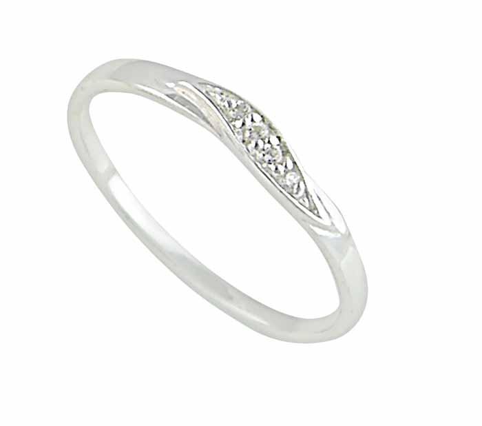 Curved Leaf Sterling Silver Ring