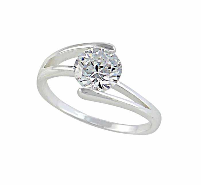 Cubic Zirconia Silver Ring
