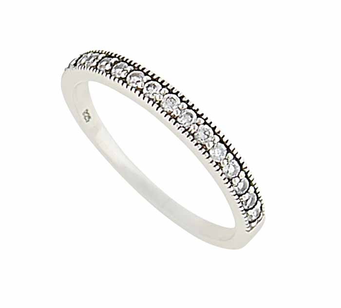 Eternity Cubic Zirconia Silver Ring