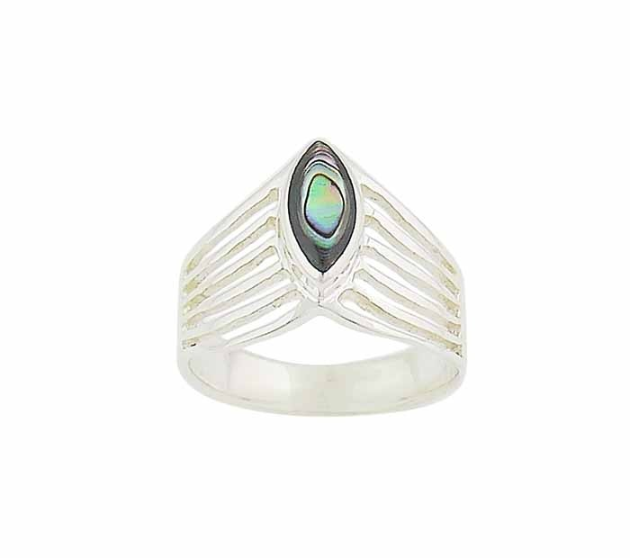 Marquise Abalone Silver Ring