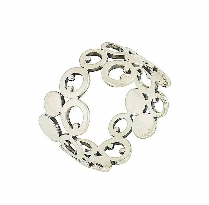 Spheres of Joy Silver Ring