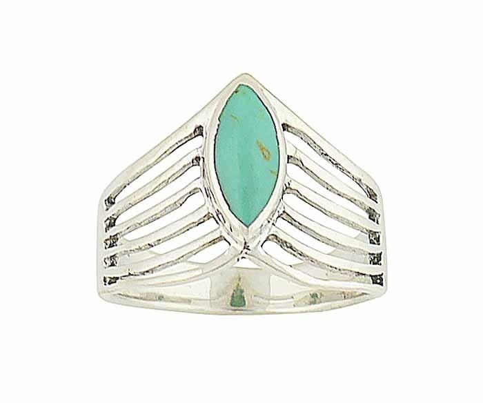 Turquoise Eye Silver Ring
