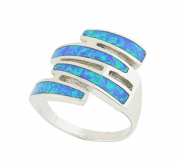Sequence Blue Opal Silver Ring