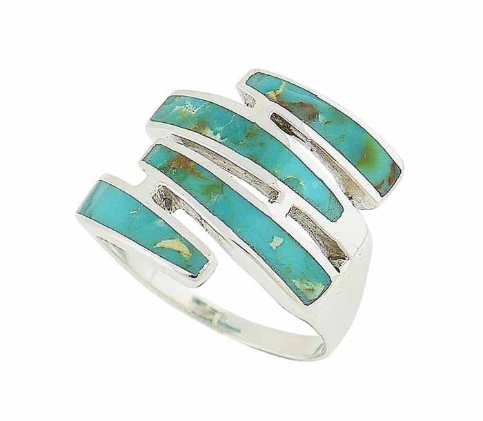 Sequence Turquoise Silver Ring