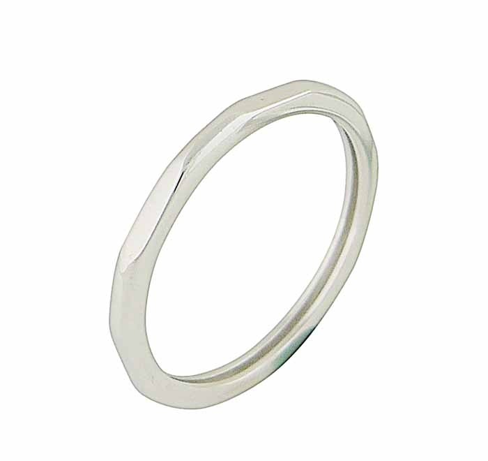 Angled Sterling Silver Ring
