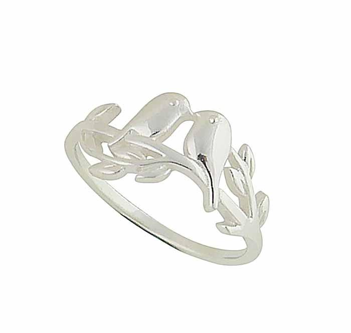 Love Birds Sterling Silver Ring