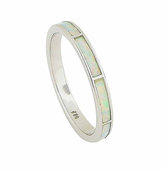 White Opal Sectional Ring
