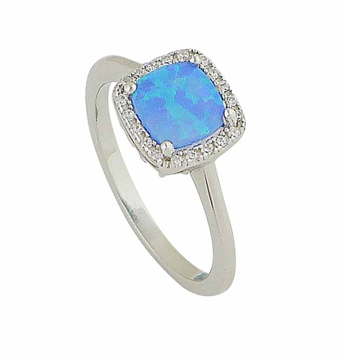 Blue Opal Regality Ring