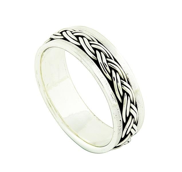 Silver Plaited spinner Ring