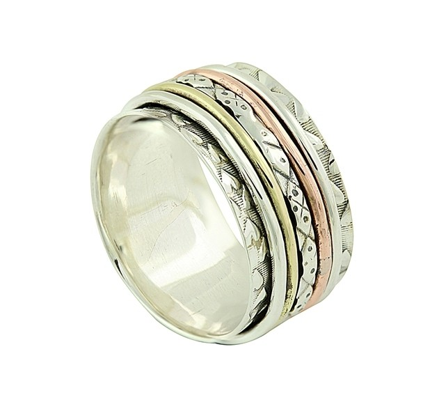 Eclectic Pattern Spinner Ring