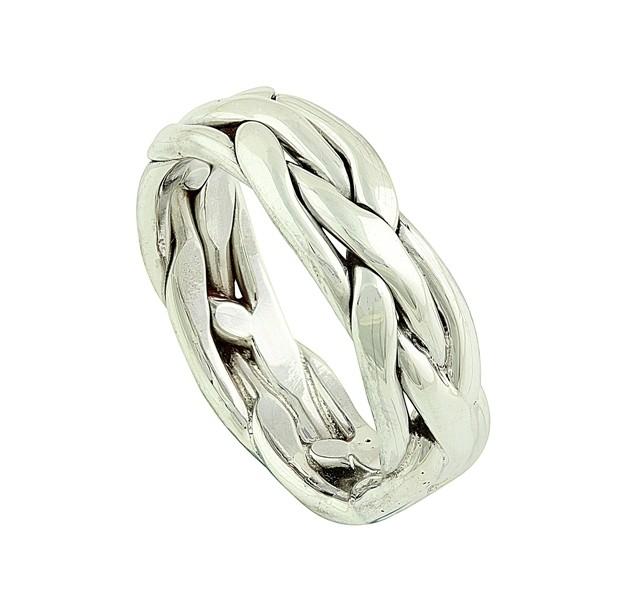 Weaving Plait Silver Ring