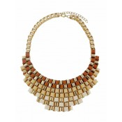 Gradient Design Statement Necklace