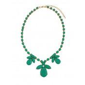 Flower Bead Short Turquoise Fashion Necklace