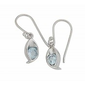 Blue Topaz Small Drop Earrings