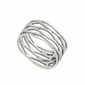 Wavy Design Sterling Silver Ring