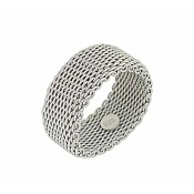 Chain Link Sterling Silver Ring