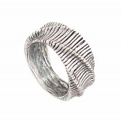 Undulate Rustic Silver Ring
