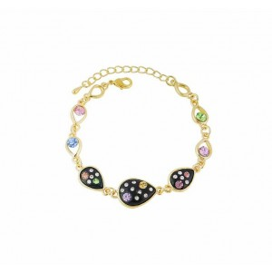 Teardrop Charm Golden Bracelet