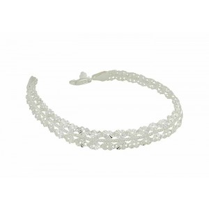 Petal and Silver Chain Bracelet