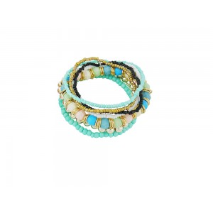 Bead Turquoise Stack Bracelet