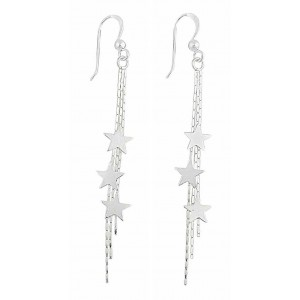 Shooting Star Long Dangle Earrings
