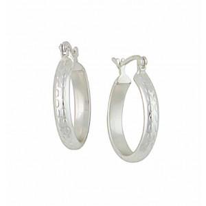 20mm Textured Design Small Hoop Earrings