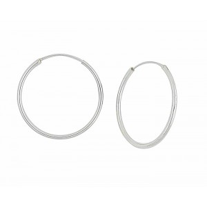 40mm Large Endless Silver Hoop Earrings