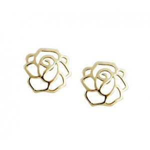 Hollow Out Rose Stud Earrings