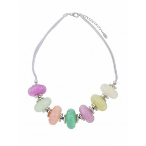 Large Multi Colour Bead Fashion Necklace on Rope
