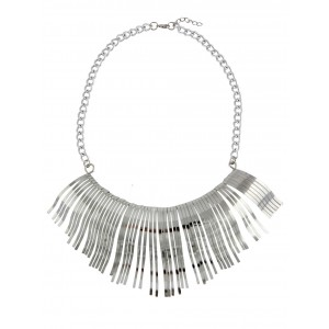Curved Tassel Design Choker Necklace