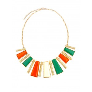 Vertical Bar Statement Necklace