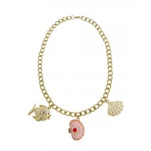 Fish Pendant Golden Necklace