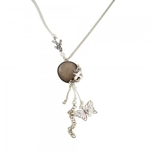 Bird and Butterfly charm Necklace