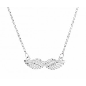 Angel Wing Pendant Short Necklace