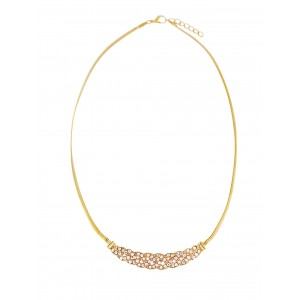 Golden Link Design Pendant Short Necklace