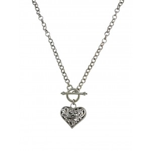 Chunky Heart Pendant Necklace