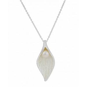 Matt Finish Silver Freshwater Pearl Necklace