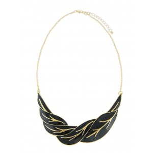 Black Leaf Necklace