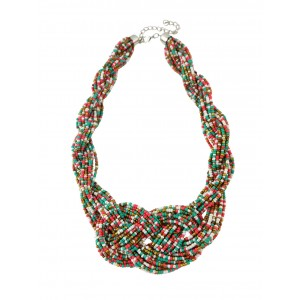 Seed Bead Plaited Necklace