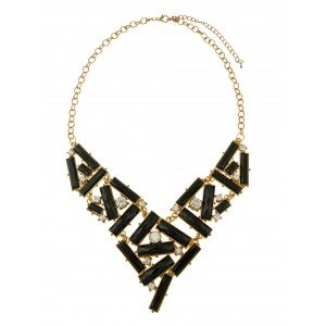 Geometric Design Bead Statement Necklace