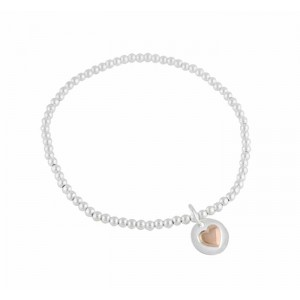 Rose Gold Heart Stretch Bracelet