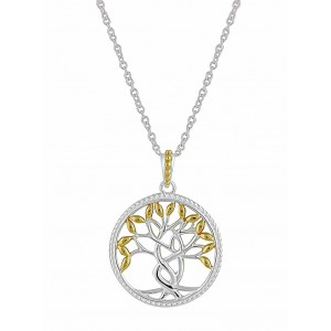 Gold Plated Tree of Life Silver Pendant